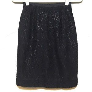 Emanuel Ungaro Midnight Blue Lace Pencil Skirt